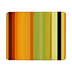 Colorful Citrus Colors Striped Background Wallpaper Samsung Galaxy Tab Pro 8 4  Flip Case by Simbadda