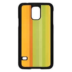 Colorful Citrus Colors Striped Background Wallpaper Samsung Galaxy S5 Case (black) by Simbadda