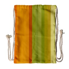 Colorful Citrus Colors Striped Background Wallpaper Drawstring Bag (large)