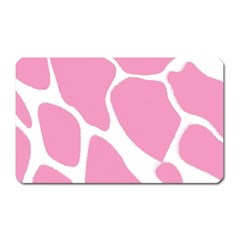 Baby Pink Girl Pattern Colorful Background Magnet (rectangular) by Simbadda