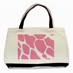 Baby Pink Girl Pattern Colorful Background Basic Tote Bag by Simbadda