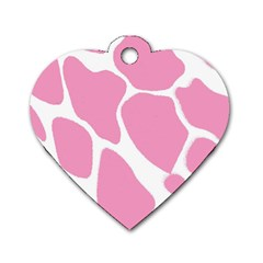 Baby Pink Girl Pattern Colorful Background Dog Tag Heart (two Sides) by Simbadda