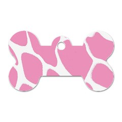 Baby Pink Girl Pattern Colorful Background Dog Tag Bone (one Side) by Simbadda