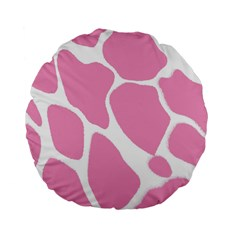 Baby Pink Girl Pattern Colorful Background Standard 15  Premium Flano Round Cushions by Simbadda