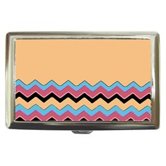 Chevrons Patterns Colorful Stripes Background Art Digital Cigarette Money Cases by Simbadda