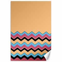Chevrons Patterns Colorful Stripes Background Art Digital Canvas 20  X 30