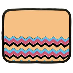 Chevrons Patterns Colorful Stripes Background Art Digital Netbook Case (large) by Simbadda
