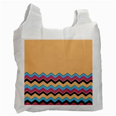 Chevrons Patterns Colorful Stripes Background Art Digital Recycle Bag (two Side)  by Simbadda