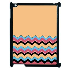 Chevrons Patterns Colorful Stripes Background Art Digital Apple Ipad 2 Case (black) by Simbadda