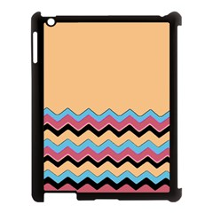 Chevrons Patterns Colorful Stripes Background Art Digital Apple Ipad 3/4 Case (black) by Simbadda