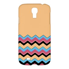 Chevrons Patterns Colorful Stripes Background Art Digital Samsung Galaxy S4 I9500/i9505 Hardshell Case by Simbadda