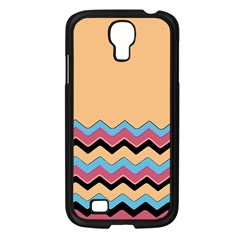 Chevrons Patterns Colorful Stripes Background Art Digital Samsung Galaxy S4 I9500/ I9505 Case (black)