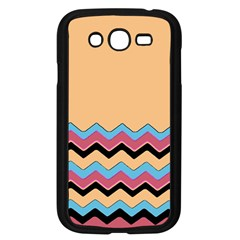 Chevrons Patterns Colorful Stripes Background Art Digital Samsung Galaxy Grand Duos I9082 Case (black) by Simbadda