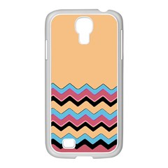 Chevrons Patterns Colorful Stripes Background Art Digital Samsung Galaxy S4 I9500/ I9505 Case (white)