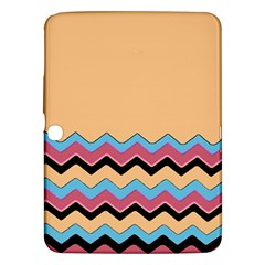 Chevrons Patterns Colorful Stripes Background Art Digital Samsung Galaxy Tab 3 (10 1 ) P5200 Hardshell Case  by Simbadda