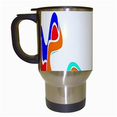 Simple Abstract With Copyspace Travel Mugs (white) by Simbadda