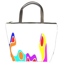 Simple Abstract With Copyspace Bucket Bags by Simbadda