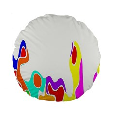 Simple Abstract With Copyspace Standard 15  Premium Round Cushions by Simbadda