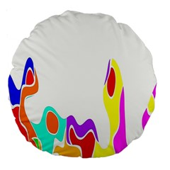 Simple Abstract With Copyspace Large 18  Premium Round Cushions by Simbadda