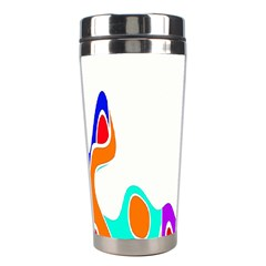 Simple Abstract With Copyspace Stainless Steel Travel Tumblers by Simbadda