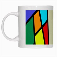 Digitally Created Abstract Page Border With Copyspace White Mugs by Simbadda