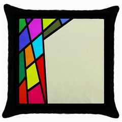 Digitally Created Abstract Page Border With Copyspace Throw Pillow Case (black) by Simbadda