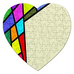 Digitally Created Abstract Page Border With Copyspace Jigsaw Puzzle (heart)
