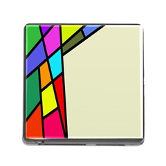 Digitally Created Abstract Page Border With Copyspace Memory Card Reader (square)