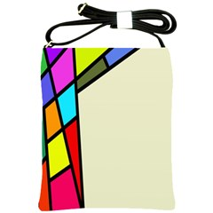 Digitally Created Abstract Page Border With Copyspace Shoulder Sling Bags