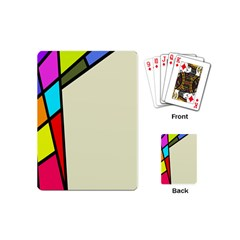 Digitally Created Abstract Page Border With Copyspace Playing Cards (mini)  by Simbadda