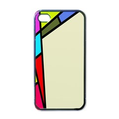 Digitally Created Abstract Page Border With Copyspace Apple Iphone 4 Case (black) by Simbadda