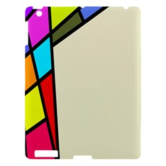 Digitally Created Abstract Page Border With Copyspace Apple Ipad 3/4 Hardshell Case by Simbadda