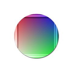 3d Rgb Glass Frame Magnet 3  (round) by Simbadda