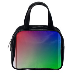 3d Rgb Glass Frame Classic Handbags (one Side) by Simbadda