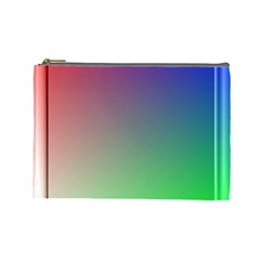 3d Rgb Glass Frame Cosmetic Bag (large)  by Simbadda