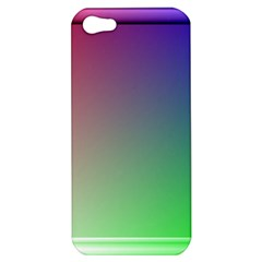 3d Rgb Glass Frame Apple Iphone 5 Hardshell Case by Simbadda