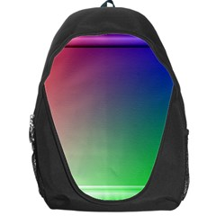 3d Rgb Glass Frame Backpack Bag by Simbadda