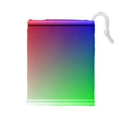 3d Rgb Glass Frame Drawstring Pouches (large)  by Simbadda