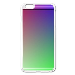 3d Rgb Glass Frame Apple Iphone 6 Plus/6s Plus Enamel White Case by Simbadda