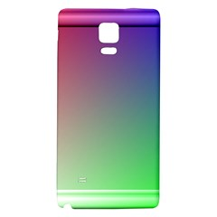 3d Rgb Glass Frame Galaxy Note 4 Back Case