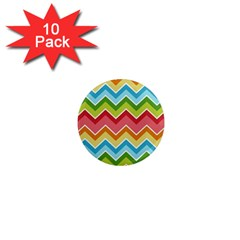 Colorful Background Of Chevrons Zigzag Pattern 1  Mini Magnet (10 Pack)  by Simbadda