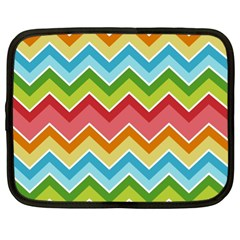 Colorful Background Of Chevrons Zigzag Pattern Netbook Case (xl)  by Simbadda