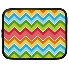 Colorful Background Of Chevrons Zigzag Pattern Netbook Case (xxl)  by Simbadda