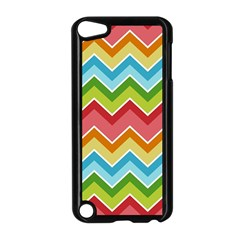 Colorful Background Of Chevrons Zigzag Pattern Apple Ipod Touch 5 Case (black) by Simbadda
