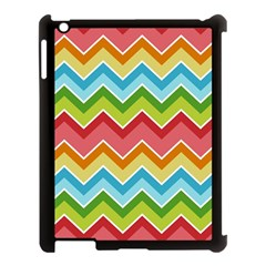 Colorful Background Of Chevrons Zigzag Pattern Apple Ipad 3/4 Case (black) by Simbadda