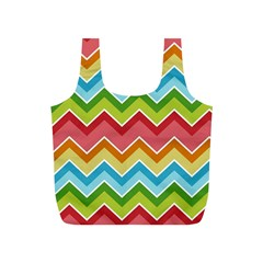 Colorful Background Of Chevrons Zigzag Pattern Full Print Recycle Bags (s)  by Simbadda