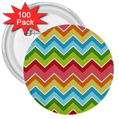 Colorful Background Of Chevrons Zigzag Pattern 3  Buttons (100 Pack)  by Simbadda