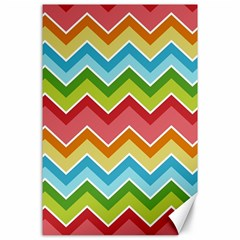 Colorful Background Of Chevrons Zigzag Pattern Canvas 24  X 36  by Simbadda
