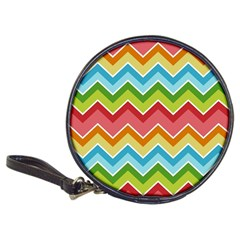Colorful Background Of Chevrons Zigzag Pattern Classic 20 Cd Wallets by Simbadda