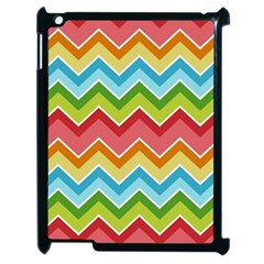 Colorful Background Of Chevrons Zigzag Pattern Apple Ipad 2 Case (black) by Simbadda
